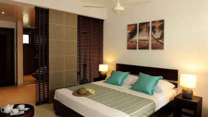 Bedroom,  Coin de Mire Attitude Hotel, Mauritius